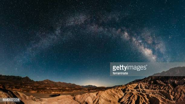 stargazing in death valley - rock formation stock pictures, royalty-free photos & images