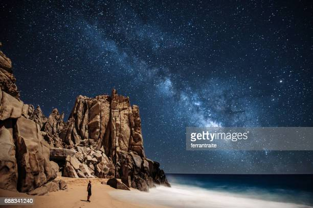 stargazing in mexico - majestic stock pictures, royalty-free photos & images