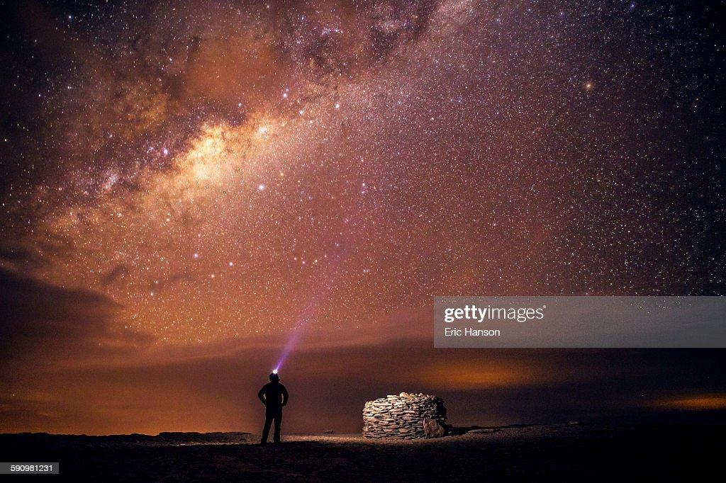 Stargazing in the Atacama Desert : Stock Photo