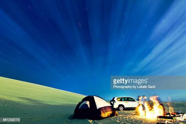 stargazing - qatar desert stock photos and pictures