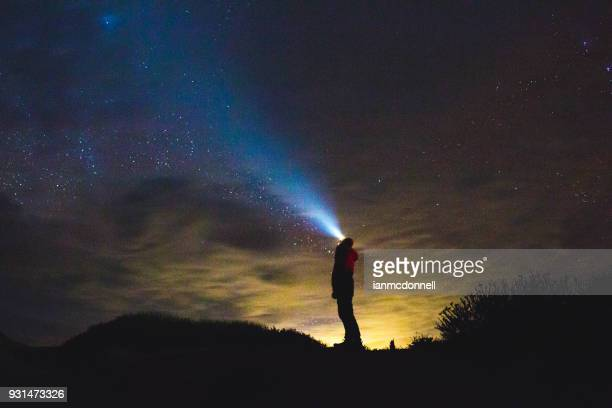stargazing - light beam stock pictures, royalty-free photos & images