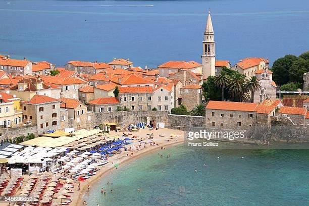 Stari Grad (Old Town) and beach of Budva, Montenegro