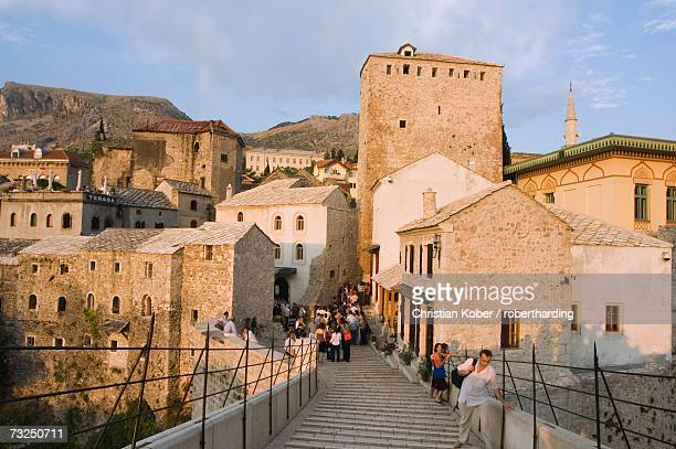 Stari Most Peace Bridge on Neretva River, Mostar, Bosnia, Bosnia-Herzegovina, Europe