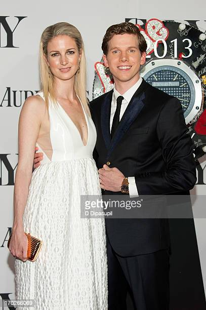 Stark Sands and Gemma Clarke attend the 67th Annual Tony Awards at Radio City Music Hall on June 9 2013 in New York City