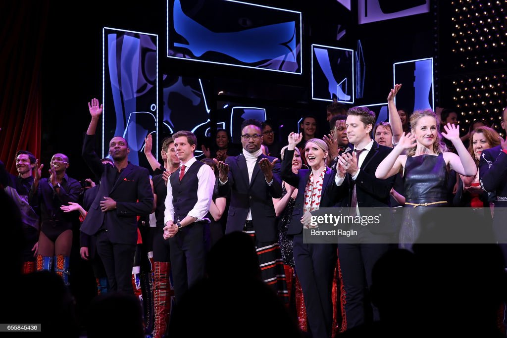 Stark Sands, Billy Porter, Annaleigh Ashford attends the TDF Honors Broadway's 'Kinky Boots' Curtain Call at Al Hirschfeld Theatre on March 20, 2017 in New York City.