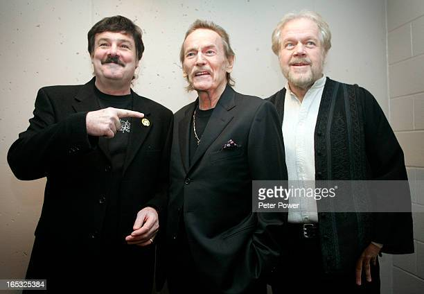Canadian music legends Burton Cummings left Gordon Lightfoot and Randy Bachman right together backstage at the 2nd Annual Canadian Songwriters Hall...