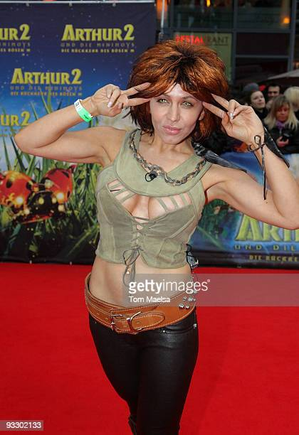 Starlet Davorka Tovilo attends the 'Arthur Und Die Minimoys 2' premiere at Sony Center on November 22, 2009 in Berlin, Germany.
