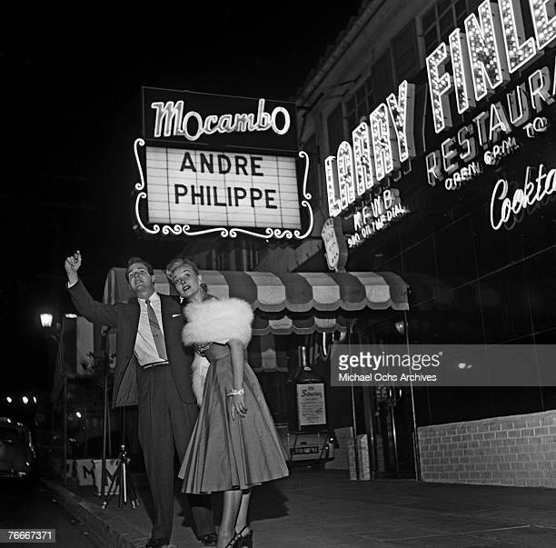 Starlet Kathy Marlowe goes out to the famous Macambo nightclub on the Sunset Strip on December 1 in Hollywood, California.