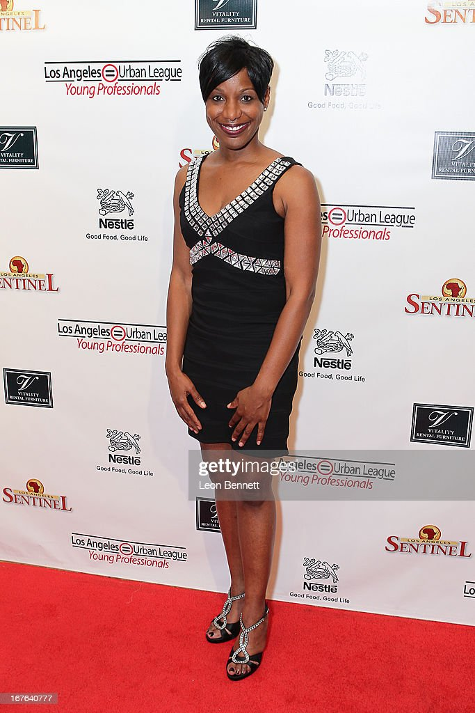 Starlett Quarles arrived at the LA Urban League Young Professionals 3rd Annual To The Nines After Party at The Beverly Hilton Hotel on April 26, 2013 in Beverly Hills, California.