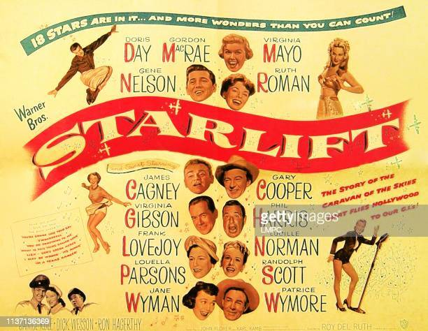 Starlift, poster, top from left: Gene Nelson, Gordon MacRae, Doris 