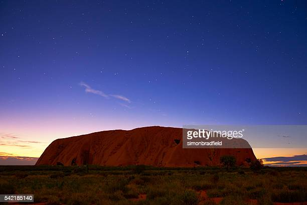 Starlight And The Approaching Dawn At Uluru
