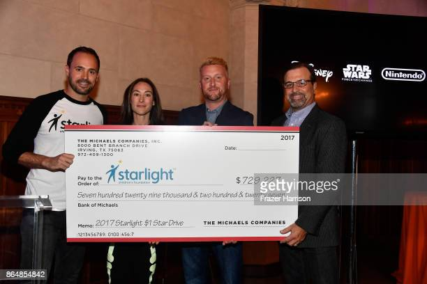 CEO Starlight Children's Foundation Chris Helfrich Manager Global Sourcing at Michaels Stores Inc Gabriela Morris Director Communications at Michaels...