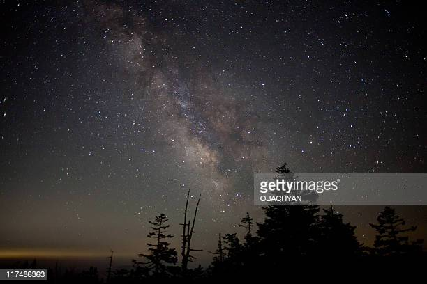 starlight - iwate prefecture stock photos and pictures