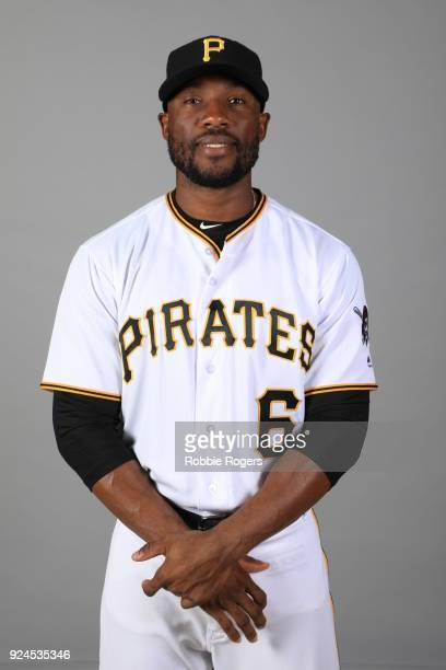 Starling Marte of the Pittsburgh Pirates poses during Photo Day on Wednesday February 21 2018 at LECOM Park in Bradenton Florida