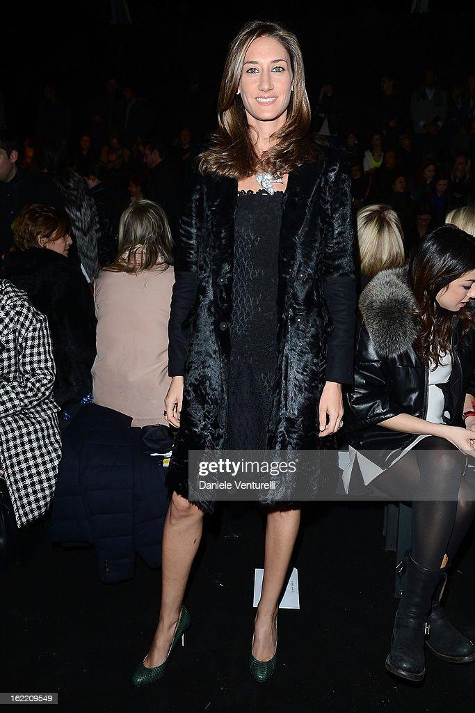Starlite Randall attends the Alberta Ferretti fashion show as part of Milan Fashion Week Womenswear Fall/Winter 2013/14 on February 20, 2013 in Milan, Italy.