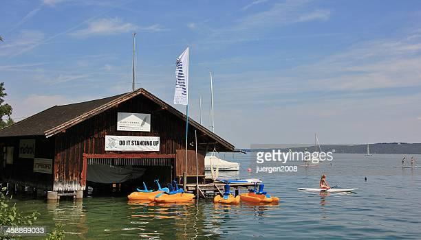 lac de starnberger - starnberg photos et images de collection