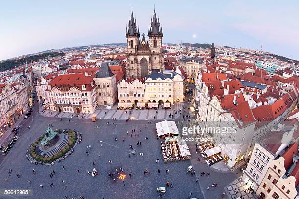 Staromestske Namesti and the Church of Our Lady before Tyn in Prague