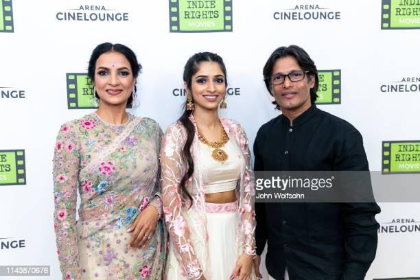 Star/producer Ashwini Pratap Pawar Sudharma Vaithiyanathan and P T Narendran attend the theatrical world premiere of Kaarthikeyan Kirubhakaran's...