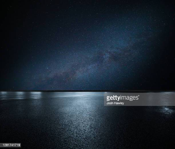 starry night and road - celebrities stock pictures, royalty-free photos & images