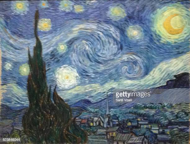 Starry Night by Vincent van Gogh at Moma on March 9 2016 in New York New York