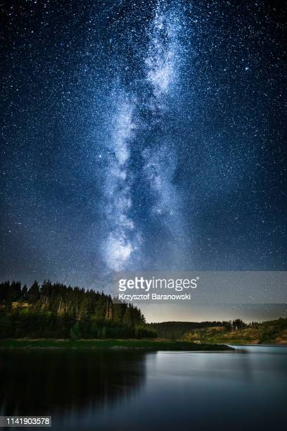 starry night, harz, germany - saxony anhalt stock pictures, royalty-free photos & images