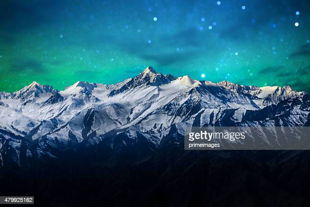 starry night in norther part of india - himalayas stock pictures, royalty-free photos & images