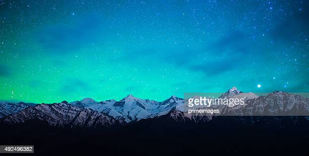 starry night in norther part of india - north stock pictures, royalty-free photos & images