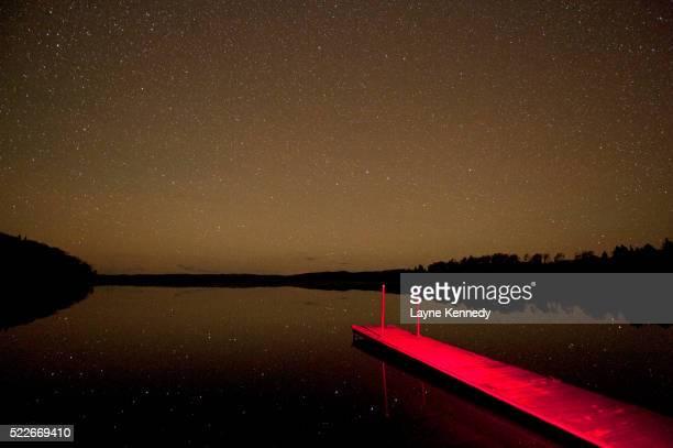 starry night, minnesota boundary waters canoe area wilderness - boundary waters canoe area stock pictures, royalty-free photos & images