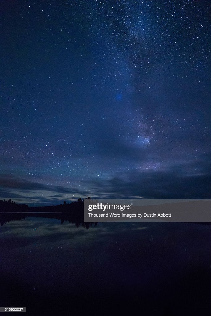 Starry Night over Algonquin : Stock Photo