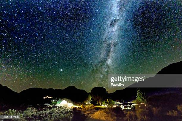 starry night over campsite - western cape province stock pictures, royalty-free photos & images
