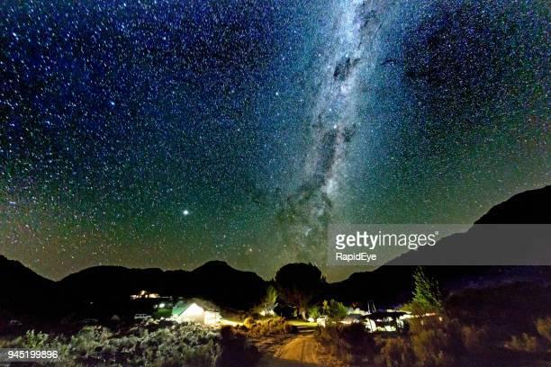 Starry night over campsite