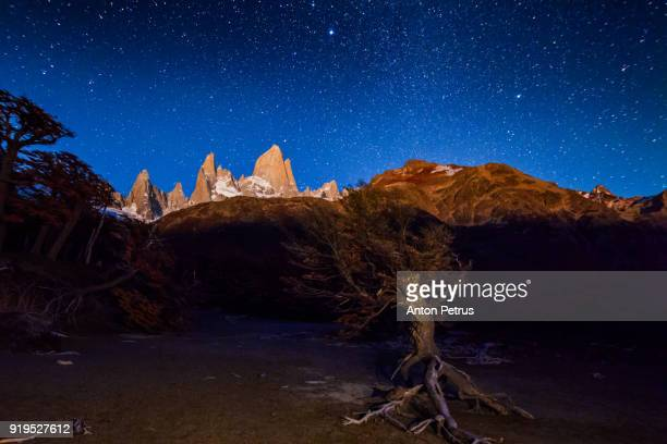 Starry Night Over Mount Fitz Roy. Patagonia, Argentina