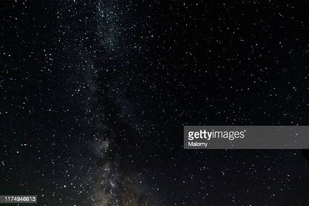 starry night sky. - space stock pictures, royalty-free photos & images