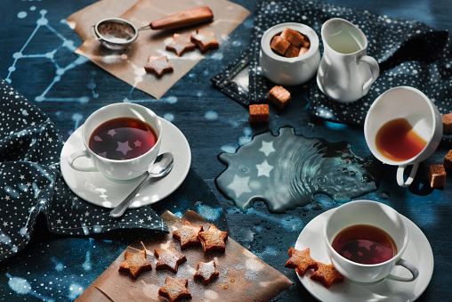 Starry night tea party - gettyimageskorea