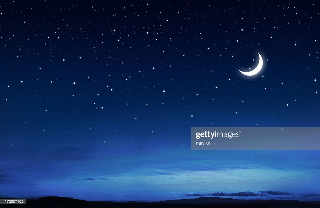 Starry Peaceful Night : Stock Photo