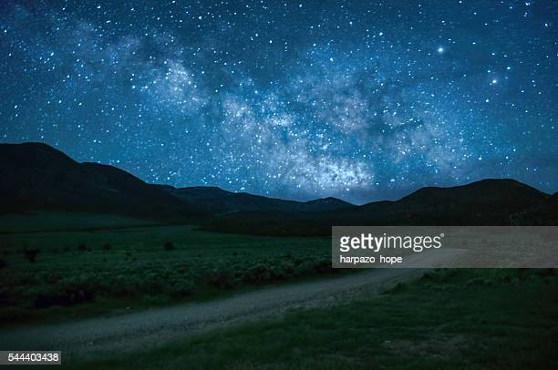 Starry sky and a rural road.
