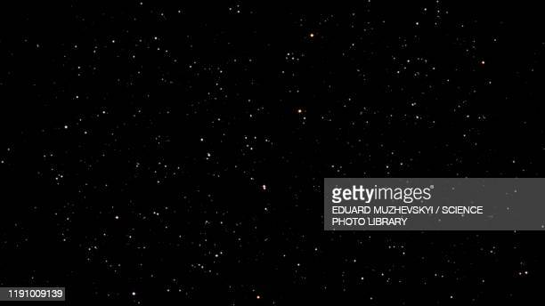 starry sky, illustration - galaxy stock pictures, royalty-free photos & images
