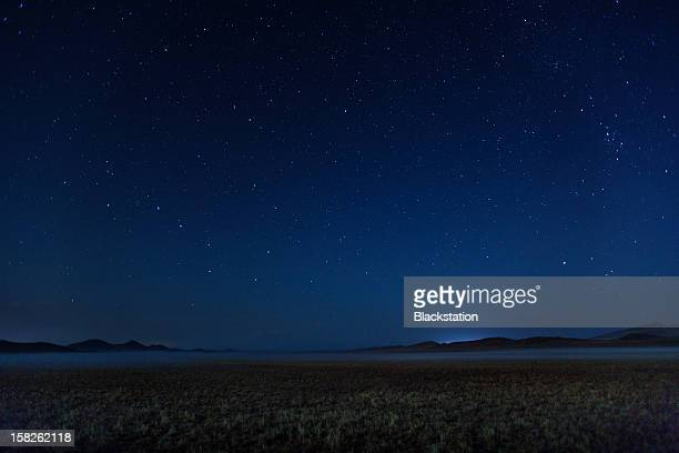 starry sky - night stockfoto's en -beelden