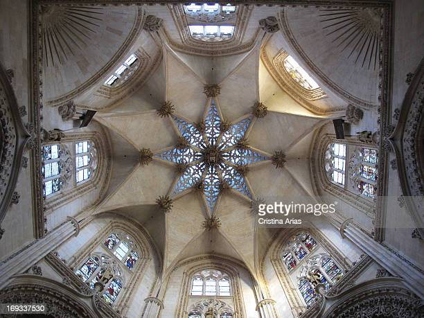 Starry vault that covers the chapel of the Condestables in Burgos Cathedral made by the burgalés architect Simon de Colonia between 1482 and 1484 in...