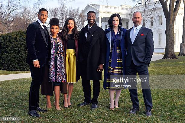 Stars Alano Miller Amirah Vann Jurnee SmollettBell Aldis Hodge Jessica de Gouw and Chris Meloni appear at a screening and panel discussion of WGN...