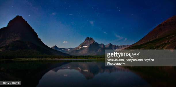Stars and Reflections at Many Glacier in Glacier National Park, Montana