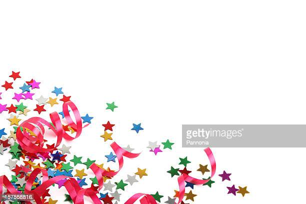 Stars and streamers party decoration XXXL on white