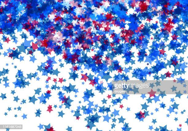 usa stars and stripes abstract background isolated on white - memorial day background stock pictures, royalty-free photos & images