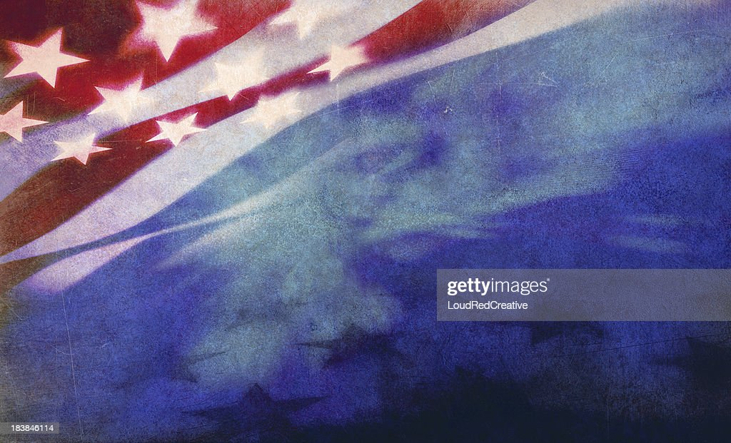 stars and stripes background : Stock Photo