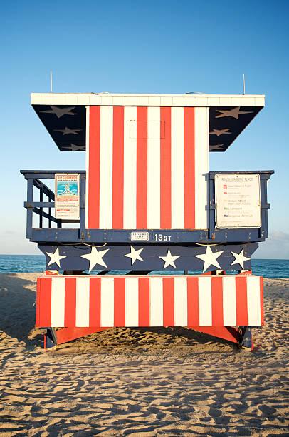 Stars and Stripes Beach Hut in Miami