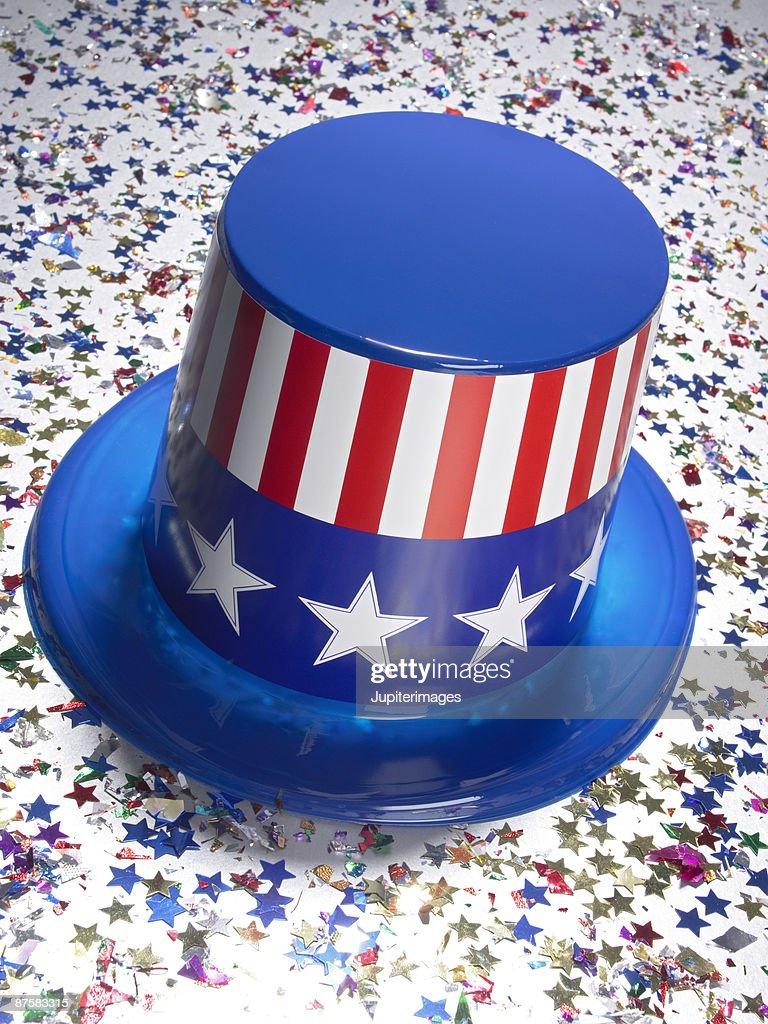 Stars and stripes top hat : ストックフォト