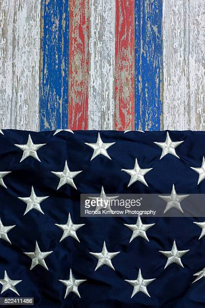 Stars and Stripes wood plank background