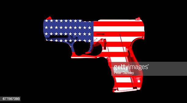 stars and strips gun - gun control stock pictures, royalty-free photos & images