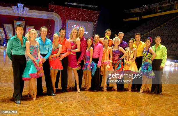 Stars attend the Strictly Come Dancing The Live Tour photocall at Manchester Evening News Arena on January 21 2009 in Manchester England