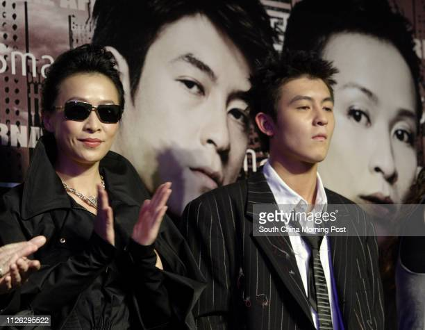 Stars Carina Lau Kaling and Edison Chen Koonhei in the premiere of Infernal Affairs II at the UA theatre in Times Square 29 September 2003